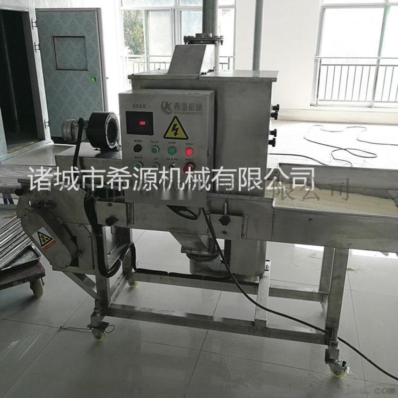 心形鸡排专用粘粉设备 米香鸡块浸浆机器生产线
