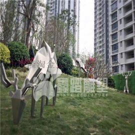 园林景观抽象不锈钢雕塑 抽象动物雕塑定做