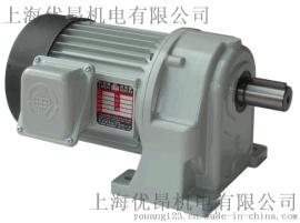 台湾利明牌齿轮减速电机SH12-0.4KW-30A、SH卧式安装