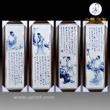 景德鎮陶瓷手繪四扇屏