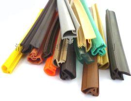 供应各种规格PVC木门隔音防撞彩色密封条 TPE弹性体卡槽式胶条