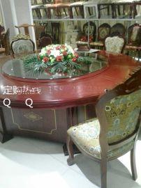 襄阳批发豪华实木电动餐桌价格#酒店家具