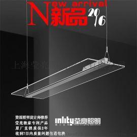 瑩亮照明透明吊燈客廳餐廳辦公現代創意簡約時尚LED吊燈新款