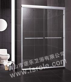 佛山沐浴间厂家 供应**铝型材双活动简易淋浴房推拉门R031