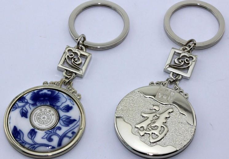 漳州钥匙扣制作厂家福州青花瓷钥匙扣订做