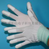促銷13針PU塗指尼龍手套 白色塗層浸膠 指尖塗層手套