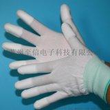 促销13针PU涂指尼龙手套 白色涂层浸胶 指尖涂层手套