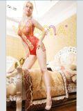 YILIANNA 新款提花网眼性感泳装连身短裙情趣丝袜女用网袜连身衣