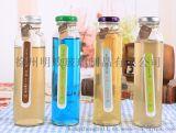现货供应 350ml果汁瓶泡茶瓶饮料瓶果醋瓶玻璃包装瓶厂家