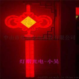 燈杆造型燈 吸塑中國結 鐵架燈籠圖案燈
