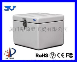 **34L摩托车送餐箱玻璃钢外卖箱外送箱保温箱送货箱尾箱订制