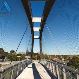 桥梁防护不锈钢绳网 不锈钢钢丝绳网 动物园围网