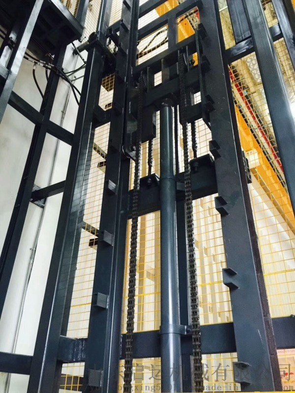 1t導軌式貨梯多層立體車庫液壓升降臺啓運通遼市貨梯