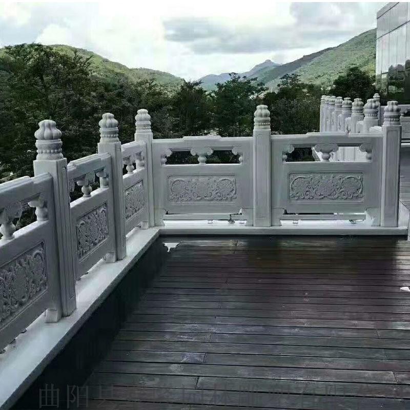 厂家直销河道栏杆-大理石栏杆-草白玉护栏