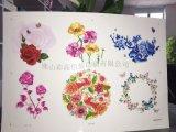 佛山彩高水转印水贴纸加工工艺水贴纸可爱、 粉红花朵系列贴纸