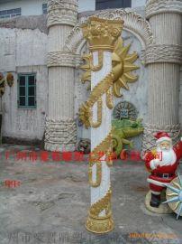 广州豪晋 玻璃钢民族风罗马柱雕塑工艺品厂家直销