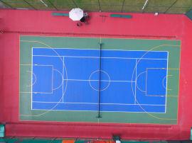 河池都安县  塑胶篮球场施工 硅PU材料厂家