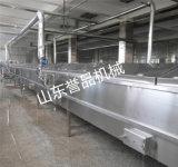 廠家定製魚豆腐蒸線千葉豆腐連續隧道式蒸煮機