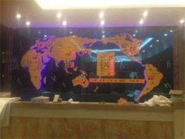 酒店大堂前台背景墙装饰案例-新款大型酒店时钟