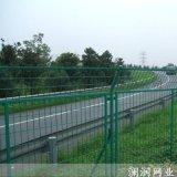 兰州高速公路浸塑双边丝防护护栏网 厂区折弯护栏网