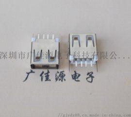 USB 接口A母立式180度直插13.7mm平口