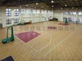 仿木紋塑膠地板 籃球場地膠 楓木紋地膠—石家莊華歐