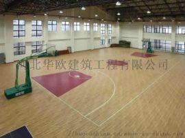 仿木纹塑胶地板 篮球场地胶 枫木纹地胶—石家庄华欧
