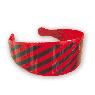 紅底黑色斜條紋髮箍