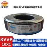 大量供應金環宇電線電纜 黑色護套線 銅  電纜RVVP10*1 護套線