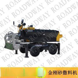 金刚砂撒料机,路得威RWSL11涡轮增压柴油发动机高精度加工布料辊撒料均匀金钢砂撒料机,金钢砂,金刚砂,撒料机,