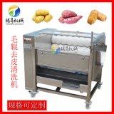 土豆去皮机 小型毛刷式莲藕脱皮机 中药材清洗机