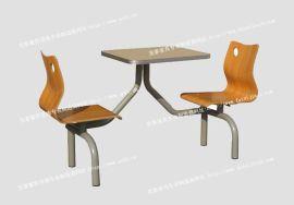 肯德基快餐桌椅,连体铝合金边快餐桌椅二人连体对坐新款快餐桌椅**进口面板铝合金封边ftmkx2-043