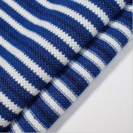 厂家直销 棉氨弹力针织牛仔布 条纹色织布 春夏裙装裤装卫衣面料