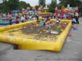 【底价直销】揭阳充气滑梯厂家充气蹦床价格充气城堡批发充气水池价格儿童游泳池洗澡池充气沙滩池玩具厂家促销