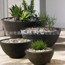 厂家生产落地式玻璃钢花盆 酒店商场美陈 欧式组合花盆可定制款式