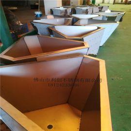 厂家供应园林花盆不锈钢钛金异形花盆花箱不锈钢中式镂空花盆定制