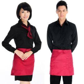 服装厂家定做餐饮酒店餐厅服务员男女工作服长袖衬衫定制logo