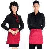 服裝廠家定做餐飲酒店餐廳服務員男女工作服長袖襯衫定製logo