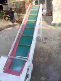 防滑输送机 装卸货输送机 定做1-200米大倾角皮带输送机