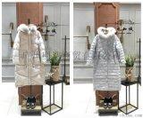 品牌女装折扣店2017年新款毛领羽绒服批发销售