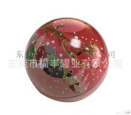 制罐厂订做马口铁球形罐 圣诞铁盒 复活节礼品罐 球形糖果罐