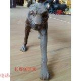 纯铜铸造动物雕塑 金钱豹 办公家居摆件