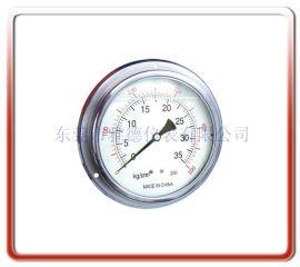 优质供应100MM轴向带边全不锈钢压力表 全钢压力表