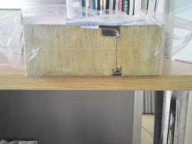 双面0.5/0.5/0.450厚聚氨酯封边岩棉彩钢夹心板多少钱一平米
