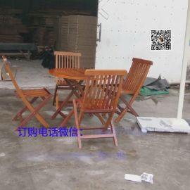 现货 楼盘小区户外组合折叠实木桌椅 户外木制餐桌椅 厂家直销