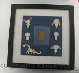 礼品相框批发 收藏/礼品纪念币 放徽章用 立体木制相框 可加LOGO