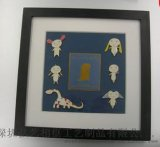 禮品相框批發 收藏/禮品紀念幣 放徽章用 立體木製相框 可加LOGO
