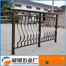 苏州厂家直销**铝合金阳台栏杆 铸铝焊接古铜色扶手护栏定制