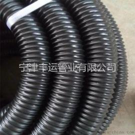 PU黑色钢丝伸缩管新风系统通风管聚氨酯耐磨风管