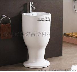 蒙诺雷斯酒杯一体洗手盆132柱盆洗脸盆